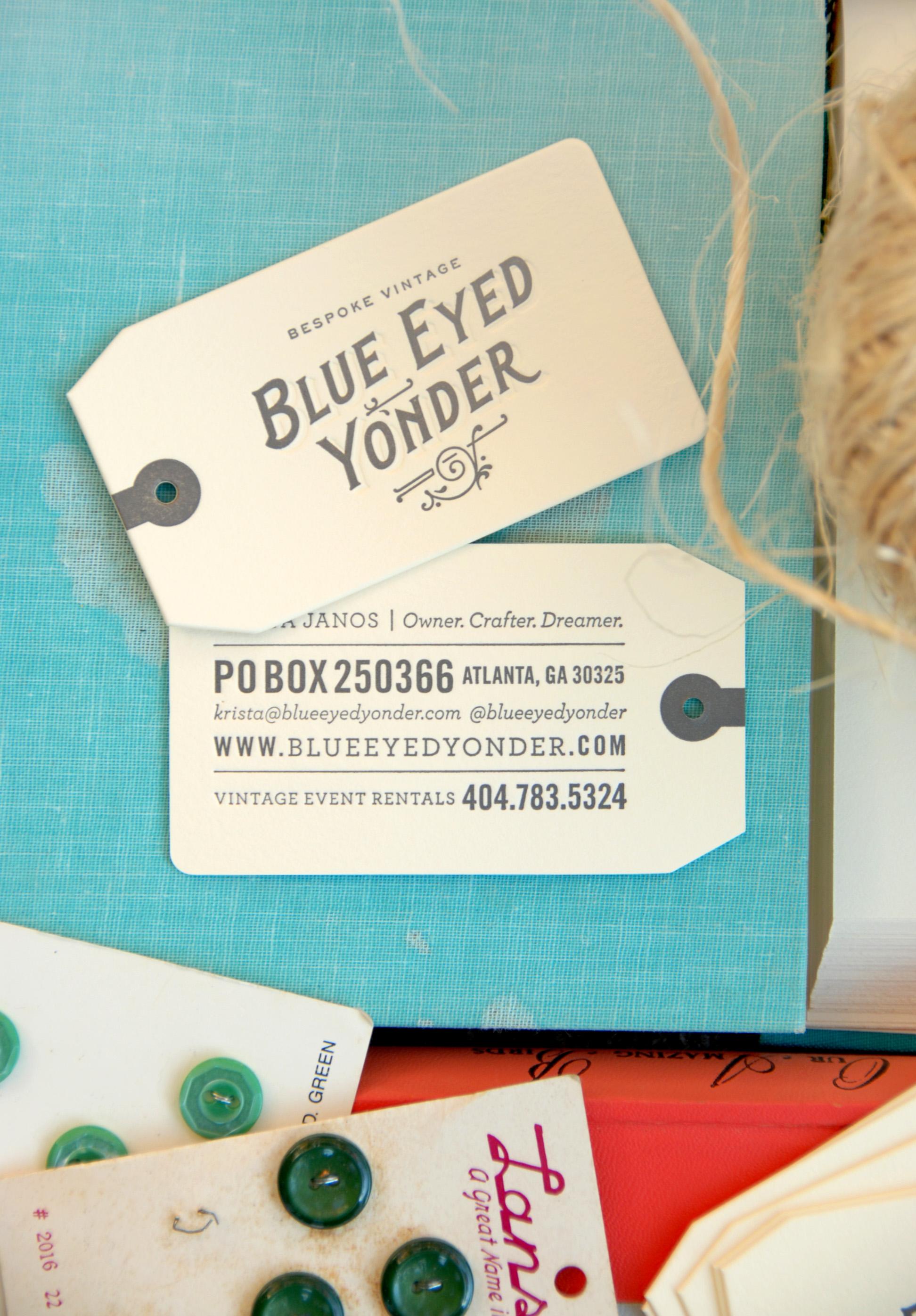 blue eyed yonder bey business cards